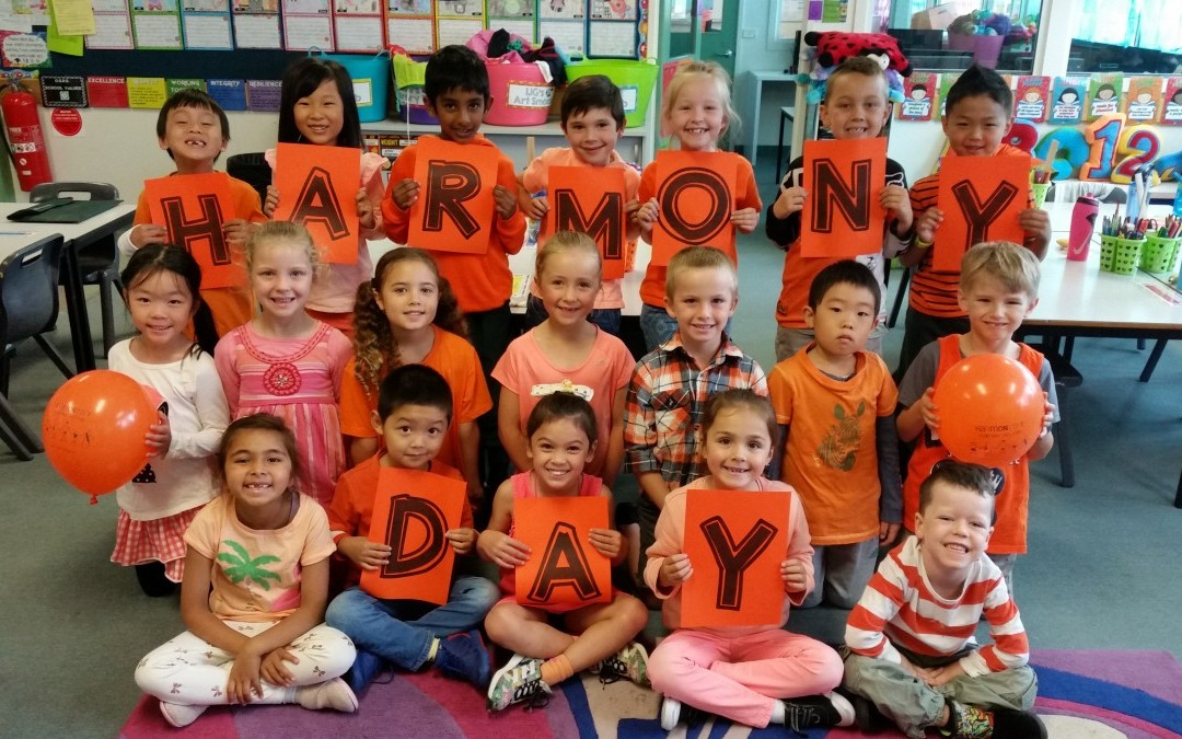 Orange Representing Harmony Day