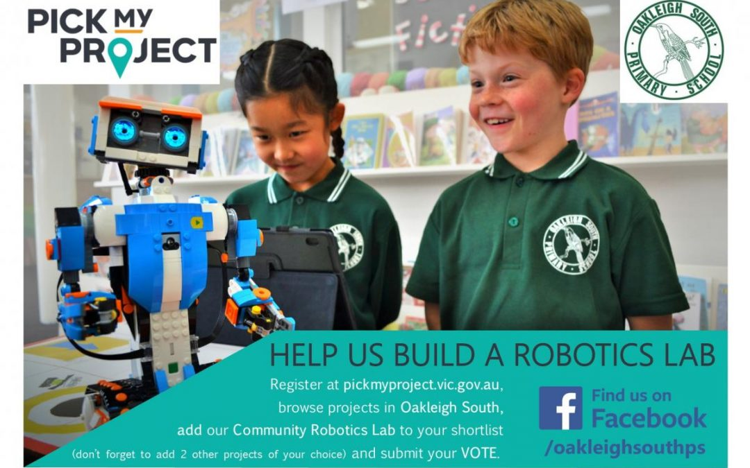VOTE FOR OSPS ROBOTICS LAB @ PICK MY PROJECT!