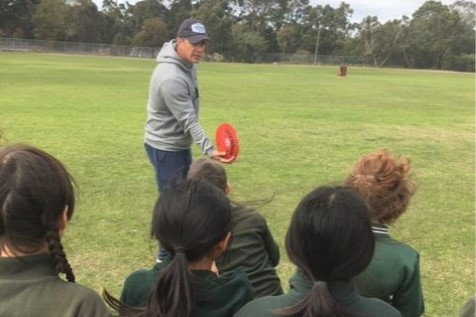 AFL STAR ADAM KINGSLEY VISITS YEAR 5