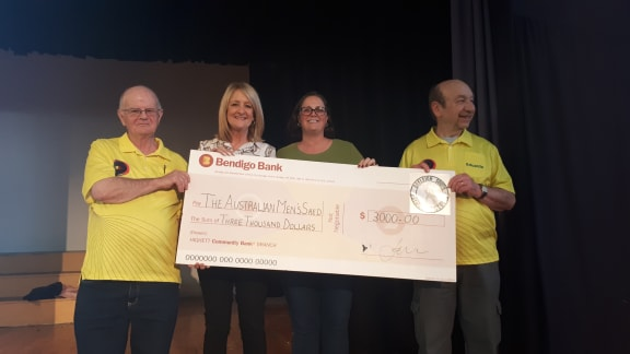 $3000 DONATED TO MEN'S SHED
