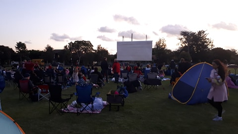 OUTDOOR MOVIE NIGHT WRAP UP