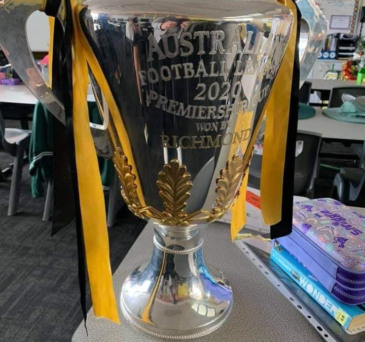 SURPRISE VISIT FROM THE 2020 AFL CUP
