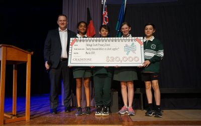 CHADSTONE LOVES LOCAL $20,000 CHEQUE PRESENTED